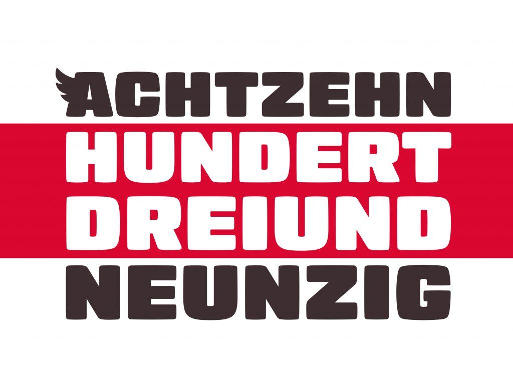 Logo des Fanclubs Achtzehnhundertdreiundneunzig